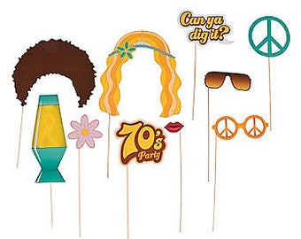 The great 70's Party Props/ 70's theme / 70's Party /