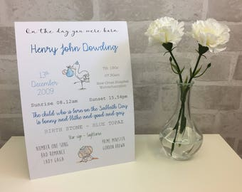New Baby Christening Personalised Gift