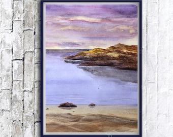 Original landscape, Watercolor landscape, watercolor painting, prints wall art, printable art, printable landscape, landscape painting, art
