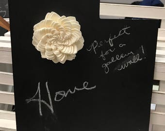 State of Utah Chalkboard,Sola Wood Flower,Gallery Wall,Military Gift,Home, Wedding, Mother's Day,Decor,wall decor,Balsa wood, Chalkboard