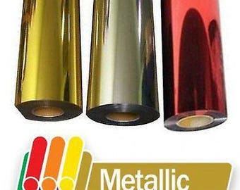 Metallic HTV, Gold Metallic Vinyl, Silver Metallic Heat Transfer Vinyl, Shiny Vinyl, Iron On Vinyl, Craft Vinyl, Holographic Vinyl