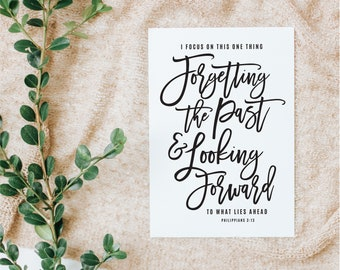 Scripture SVG, Christian SVG, Forget the Past, Philippians 3:13-14, cutting files