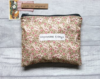 Important Things - Large Paisley Zip Pouch | Purse