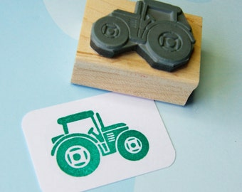 Tractor stamp - Little Tractor Rubber Stamp - Stocking Stuffer Filler - Gift for Farmer - Gift for Boys - Transport - Vehicle Stamper