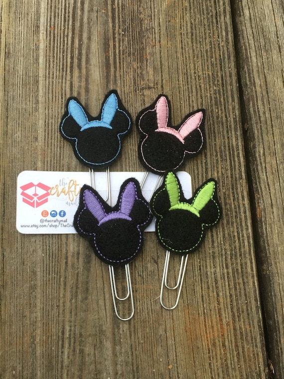 Mouse Bunny Ears Planner Clip/Planner Clip/Bookmark. Choose from 4 colors. Easter planner clip