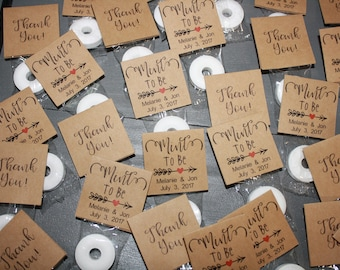 150 Personalized Mint To Be Wedding Favors, Bridal Shower Favors, Engagement Favors, Rustic Wedding Favors
