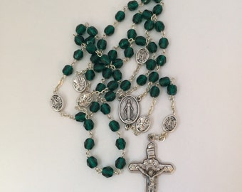 May Emerald Birthstone Rosary