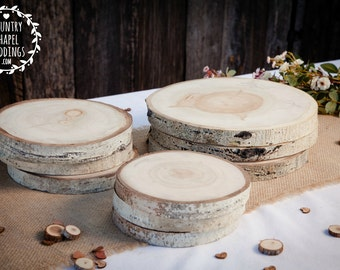 Aspen Tree Slice - 6 to 7 inch - 1.5 inch thick - Rustic Wedding Decor, Cake Stand ~ Summer Wedding