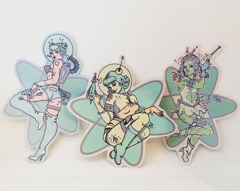 Spacebabe Stickers