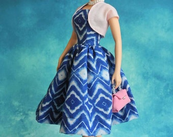 """vintage dress with bolero for Silkstone barbie Dolls and more 12"""" dolls"""