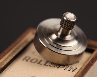 EDC Titanium spinning top & Ceramic Fidget Ball ~ RollSpin (kickstarter) ~ Birthday gift ~ Fidget toy Titanium ~ EDC Pocket top