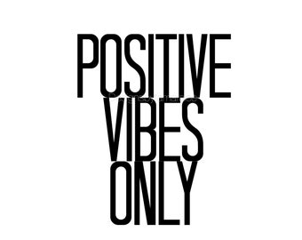 Positive Vibes Only // Wall Art Print // Mental Health Awareness// Typography // Scandinavian // Modern // TLB000421