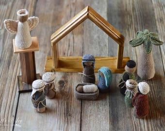 CROCHET PATTERN: Crochet Nativity Set pdf DOWNLOAD