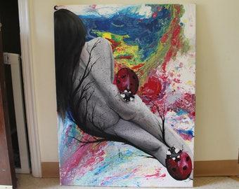 30X40 Canvas Acrylic Painting