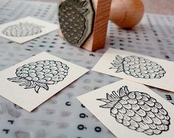 Raspberry: rubber stamp (3x3 cm)