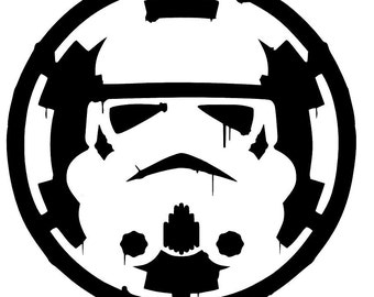 Empire inspired Storm Trooper Sticker Vinyl Decals - storm trooper, Car Window Wall Decor