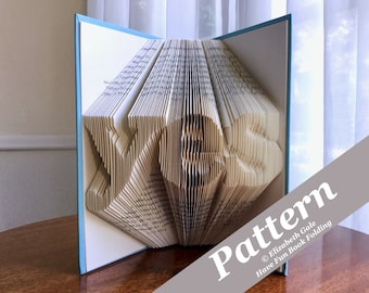 YES Book Folding Pattern -- 165 folds (330 numbered pages). Includes free How-To Guide with 3 free patterns.