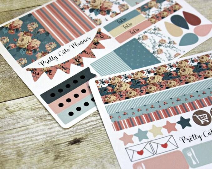 Planner Stickers -Weekly Planner Sticker Set -Erin Condren Life Planner -Happy Planner -Day Designer-Functional stickers-Cottage Chic