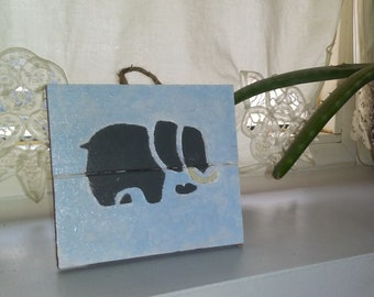 Elephant Hand Painted Wall Hanging