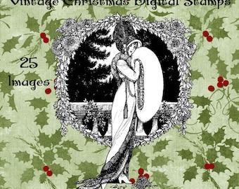 Old Fashioned Christmas Digital Stamp Set