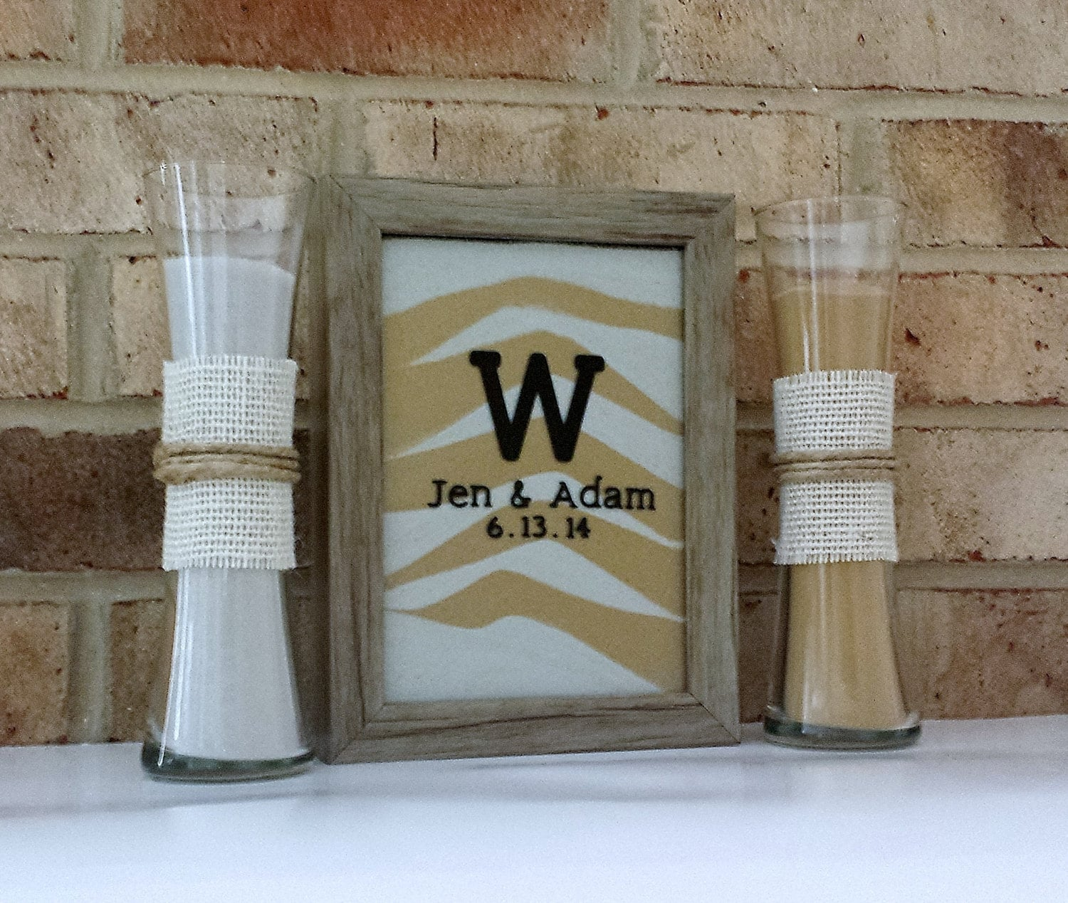 Unity picture frame with sand image collections craft decoration on sale personalized rustic barn wood wedding sand ceremony zoom jeuxipadfo image collections reviewsmspy