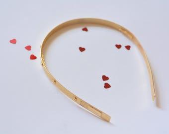 1990s   Ficarro Golden Screws Headband