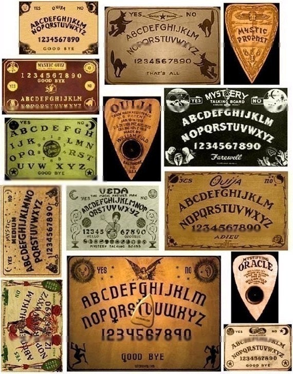 Nifty image with printable ouija board