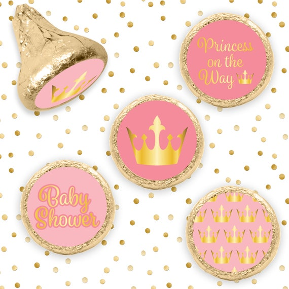 Pink And Gold Little Princess Baby Shower Party Favors Royal