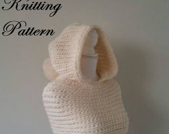 Pdf knitting pattern, owner knitting, circular scarf, snood, model knitting for child and adult, winter clothes, handmade knitwear