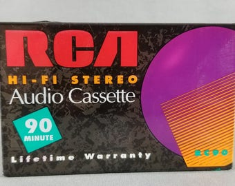Cassette Tape ~ RCA ~ Hi-Fi Stereo ~ Audio Cassette ~ NEW ~ 90 Minutes ~ Blank Cassette ~ NIB ~ Unused Vintage ~ My Nostalgic Life