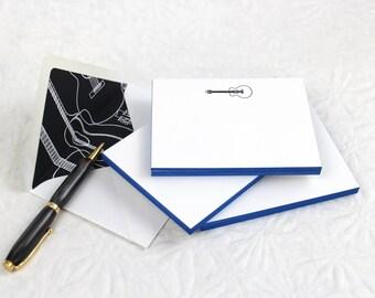 Guitar Fancy Pants - Letterpress Notecards