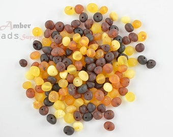 Teething Beads, Amber Beads, Baltic Amber, Multicolor Beads, Baroque Amber, Raw Beads, 170 Pieces, 0686