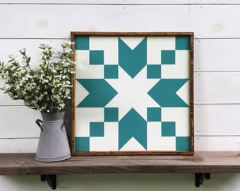 Stepping Stones Barn Quilt Quilt Block custom colors available
