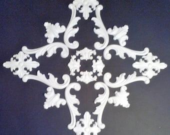 Plaster decoration - ceiling mirror - No. stucco. 10