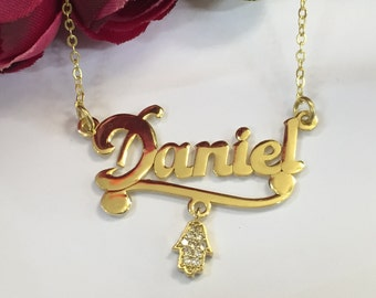 Custom gold pendants etsy personalized gold necklace personalized necklace custom necklace personalized gold jewelry name necklace personalized name pendant mom aloadofball Image collections