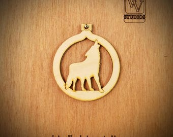 Wolf Cutout Ornament