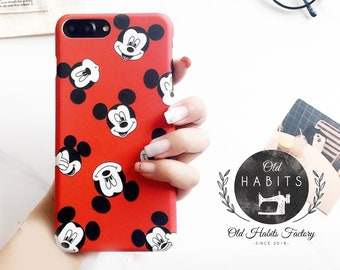 Mickey Mouse Head Hard Phone Case For iPhone 7 Plus 6 Plus 6s Cover Disney