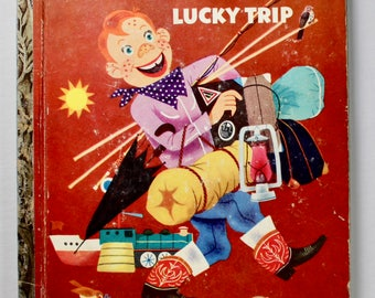 Vintage Little Golden Book No.171 Howdy Doody Lucky Trip 1st edition 1953