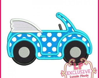 Convertible BUGGY Car Applique Embroidery Design File 4x4 5x7 6x10 7x11