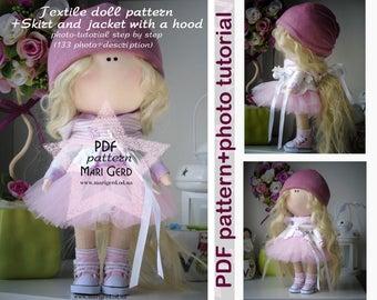 PDF doll patterns, textile doll tutorial, PDF Digital Pattern, pattern doll, cloth doll patterns, Pattern Decoration doll, Pattern toys