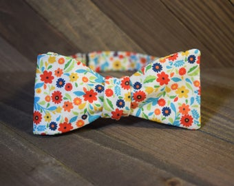 Happy Flowers Self Tie Bow Tie