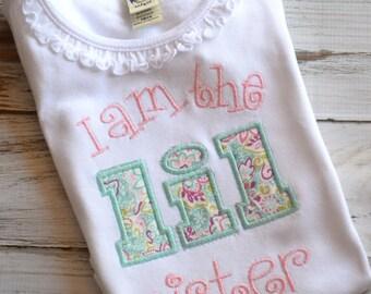 Little Sister Shirt, Embroidered, Personalized Girls Shirt, Big Sister Shirt, Newborn Baby Bodysuit,