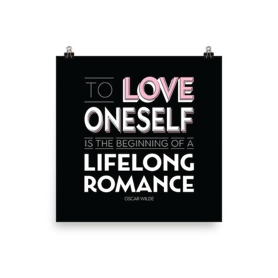 To Love Oneself - Oscar Wilde | Art Print