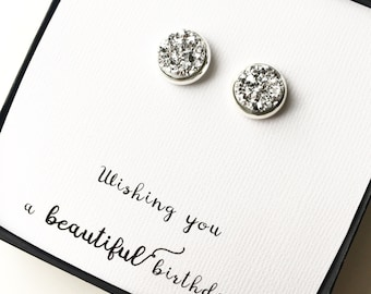 Beautiful Birthday Druzy Earrings