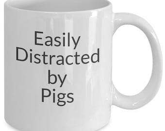 Easily distracted by pigs mug