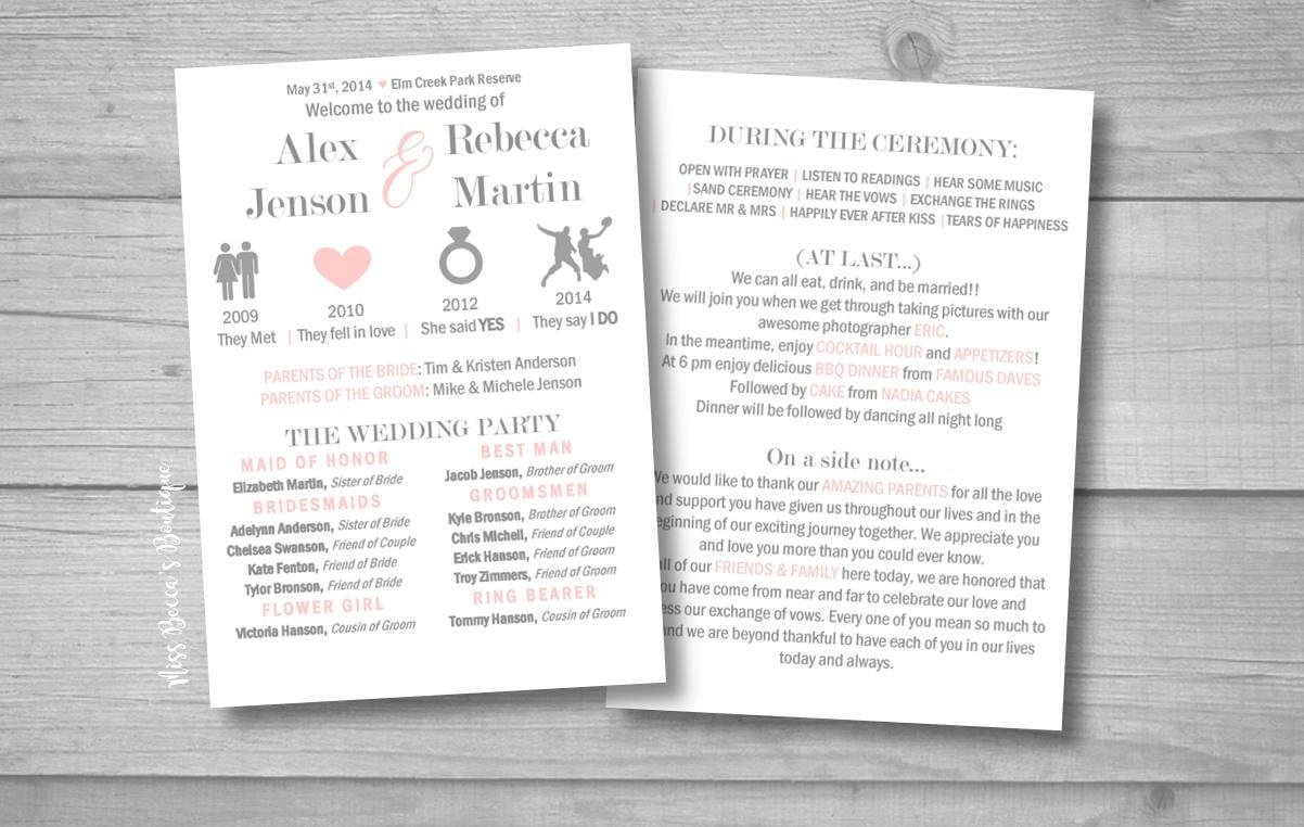 Beziehung-Timeline Hochzeit Programm / lustig Hochzeit