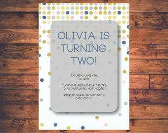 Custom Birthday Party Invitation   Printable   Olivia