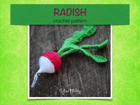 RADISH Crochet Pattern PDF - Crochet radish pattern Amigurumi radish ...