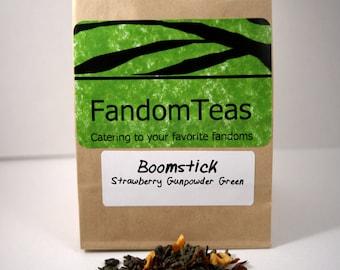 Boomstick: Evil Dead Inspired Tea Blend (Strawberry Gunpowder Green)