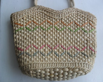 LATEST TREND Unique Straw Bag for special mum or friend , yourself